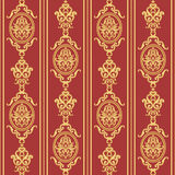 Gold and red texture in vintage rich royal style. Royalty Free Stock Images