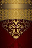 Gold and red vintage background. Stock Photography