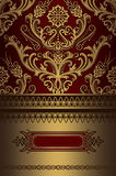 Gold and red vintage background. stock images