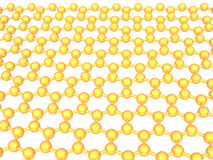 Gold reflective graphene structure on white Royalty Free Stock Photography