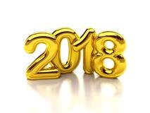 2018 gold render Stock Photo