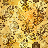 Repeating golden pattern Royalty Free Stock Photo