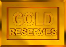 Gold reserves Royalty Free Stock Images