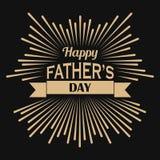 Gold retro fathers day design Stock Image