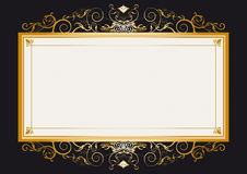 Gold retro frame Royalty Free Stock Images