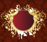 Gold retro shield. vector illustration