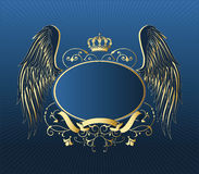 Gold retro shield. royalty free illustration