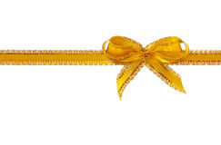 Gold ribbon Royalty Free Stock Image