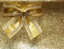 Gold ribbon Stock Image