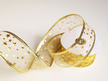 Gold ribbon Royalty Free Stock Photo