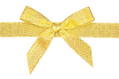 Gold ribbon. Gold ribbon isolated in the white Stock Photography