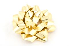 Gold ribbon. On white background Royalty Free Stock Image