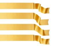 Gold ribbon. Elegance gold ribbon banner collection Stock Image