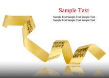 Gold ribbon Royalty Free Stock Images