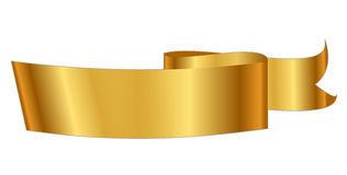 Gold ribbon Stock Illustration