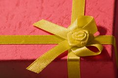 Gold Ribbon. Chirstmas Present with a gold ribbon Royalty Free Stock Photo