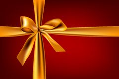 Gold_ribbon Fotografia Royalty Free