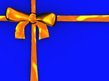 Gold ribbon background Stock Photos
