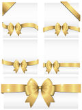 Gold Ribbon Banners Royalty Free Stock Image