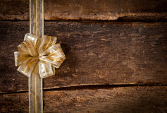Gold ribbon and bow border Stock Images