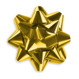 Gold Ribbon bow Royalty Free Stock Photography