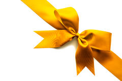 Gold ribbon and bow Stock Photography