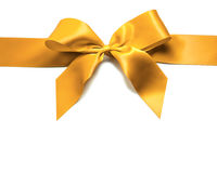 Gold ribbon and bow Stock Images