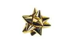 Gold ribbon bows Stock Photos