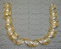 Gold Ribbon - Christmas royalty free stock photos