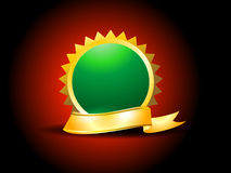 Gold Ribbon With Circle Stock Image