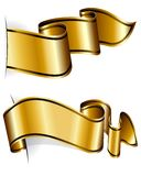 Gold ribbon collection Stock Image