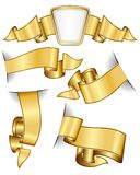 Gold ribbon collection Stock Photo
