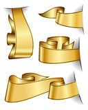 Gold ribbon collection Stock Photography