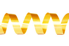 Gold ribbon curl Stock Photography