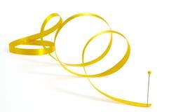 Gold ribbon curls Royalty Free Stock Photos