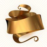 Gold ribbon  Royalty Free Stock Photos