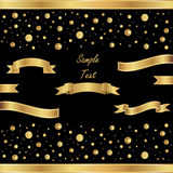 Gold ribbon on a festive background. Festive vector background with golden ribbons Royalty Free Stock Photography