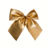 Gold ribbon for gift Stock Images