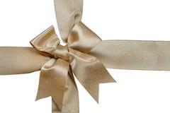 Gold ribbon isolated on white background Royalty Free Stock Image