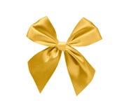 Gold ribbon isolated. On white background, design element Royalty Free Stock Photos