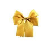 Gold ribbon object  white background. Royalty Free Stock Photos
