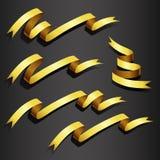 Gold ribbon set Stock Photo