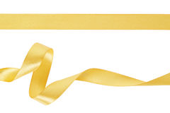 Gold ribbon set royalty free stock photo