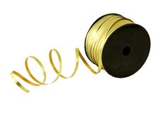 Gold ribbon on a spool Royalty Free Stock Image