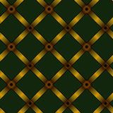 Gold ribbon upholstery background Stock Photography