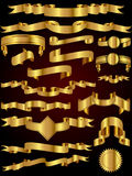 Gold Ribbon Vector Collection Royalty Free Stock Image