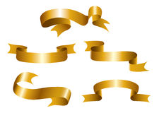 Gold Ribbons. A set of gold bands for the design royalty free illustration