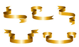 Gold Ribbons. Vector illustration - gold twisted ribbon royalty free illustration