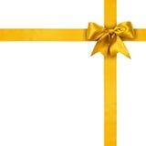 Gold ribbons Royalty Free Stock Photo