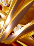 Gold ribbons background Stock Images